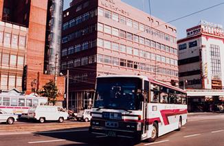 나가사키 현영 버스 나가사키 터미널을 출발하는 규슈호